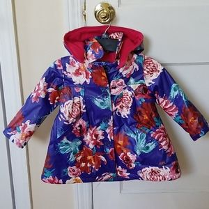 Catimini Voile Lined Floral Hooded Raincoat